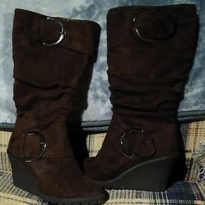 Top moda wedge boots